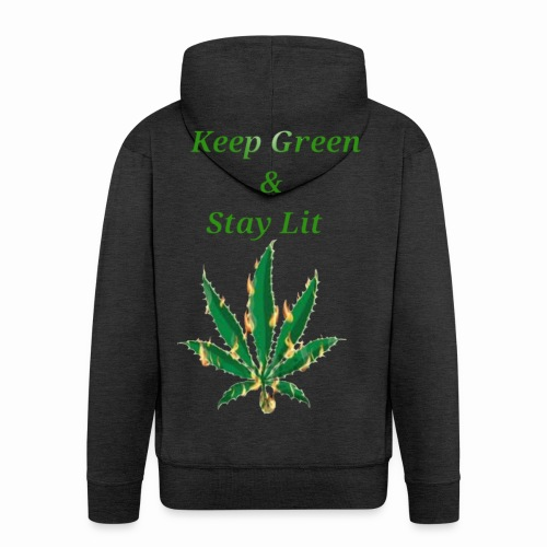 Keep green And Stay lit - Men's Premium Hooded Jacket