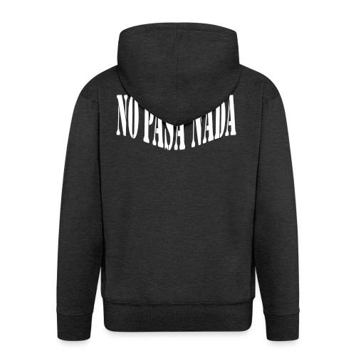 scritta per maglione png BIANCO - Felpa con zip Premium da uomo
