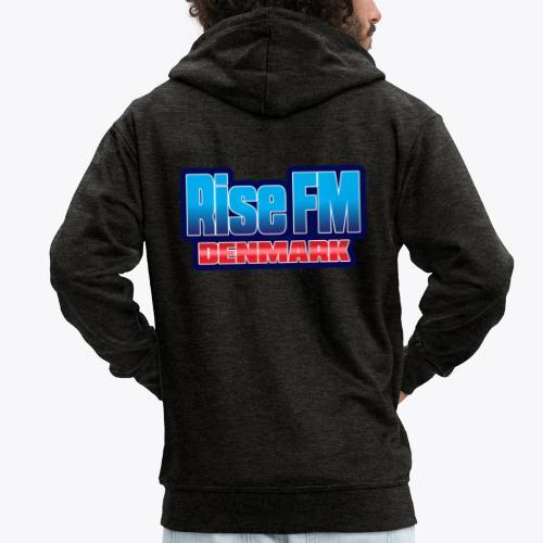 Rise FM Denmark Text Only Logo - Men's Premium Hooded Jacket