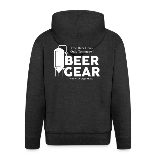 Beer Gear free Beer White - Premium Hettejakke for menn