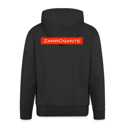 BasicLogoRed - Felpa con zip Premium da uomo