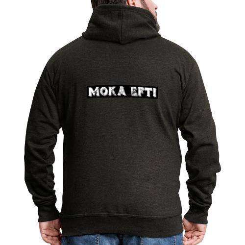 Black & White MOKA EFTI Design Art Deco Berlin - Männer Premium Kapuzenjacke