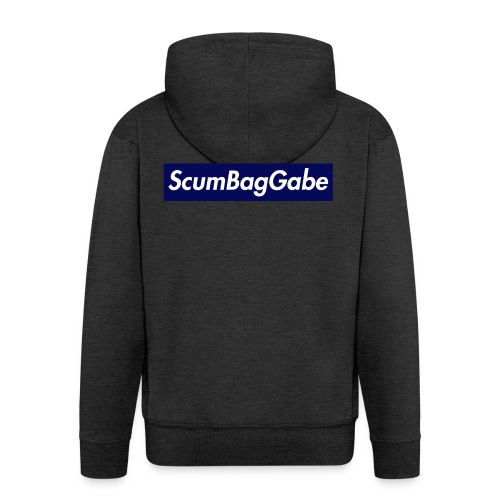 ScumBagGabe Blue XL Logo - Men's Premium Hooded Jacket