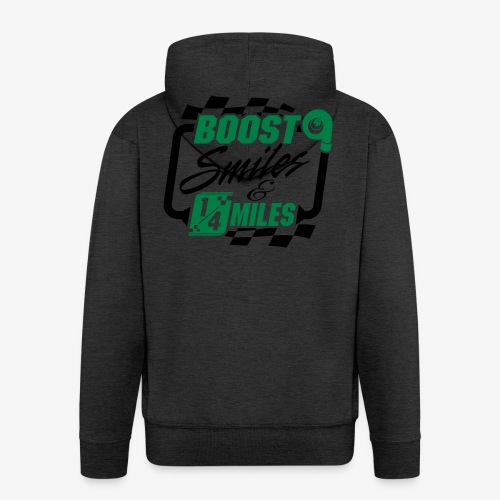 Boost Smiles & Quarter Miles Green & Black Print - Men's Premium Hooded Jacket