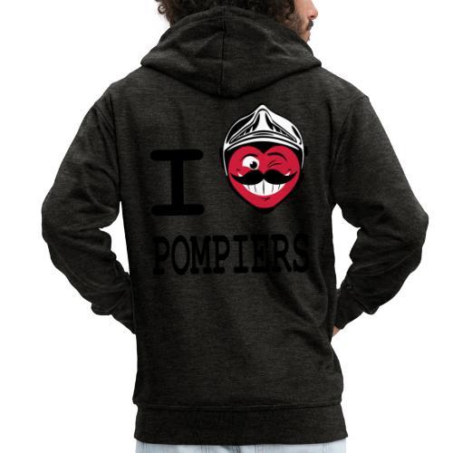 i_love_pompier_4 - Veste à capuche Premium Homme