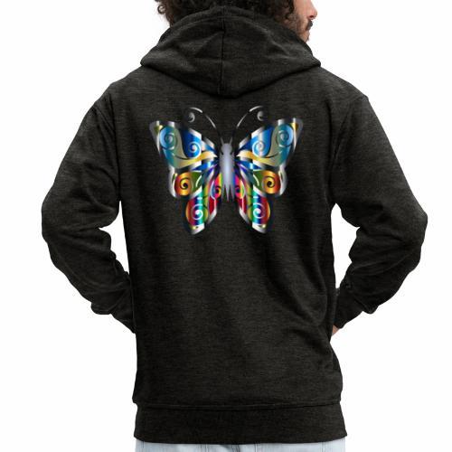 butterfly - Rozpinana bluza męska z kapturem Premium