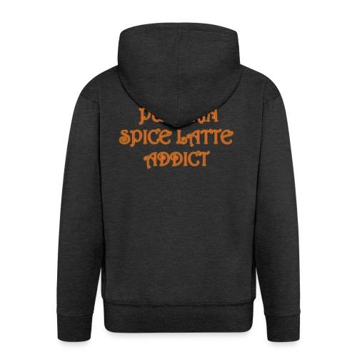 PumpkinSpiceAddict - Felpa con zip Premium da uomo