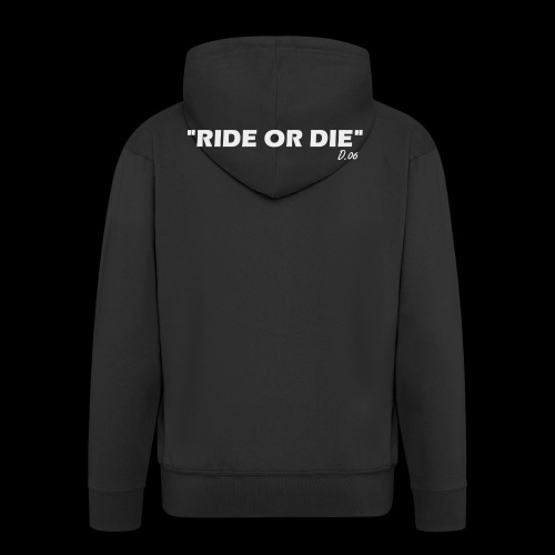 Ride or die (blanc) - Veste à capuche Premium Homme