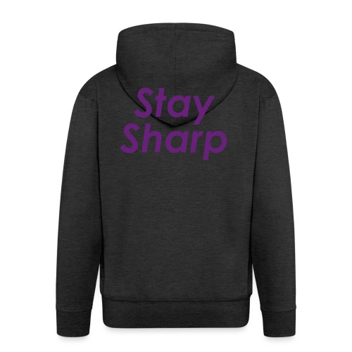 Stay Sharp - Felpa con zip Premium da uomo