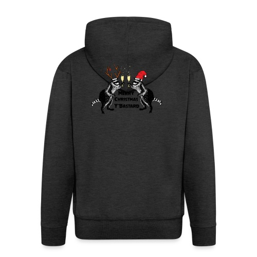 Xmas Raccoons - Men's Premium Hooded Jacket