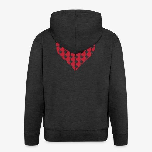 Cuoricini-love-valentine-day-heart - Felpa con zip Premium da uomo