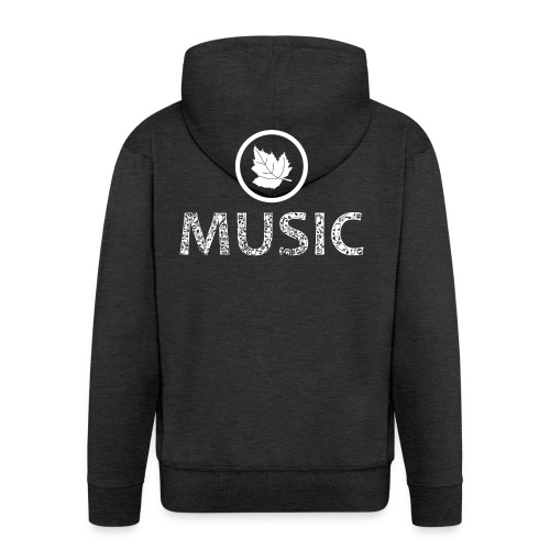 logo bashk music e bardhe - Men's Premium Hooded Jacket