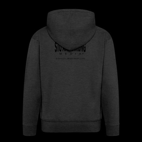 Stu Armstrong Media Black Logo - Men's Premium Hooded Jacket