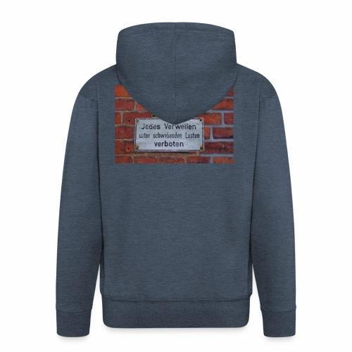 Original Artist design * Jedes Verweilen - Men's Premium Hooded Jacket