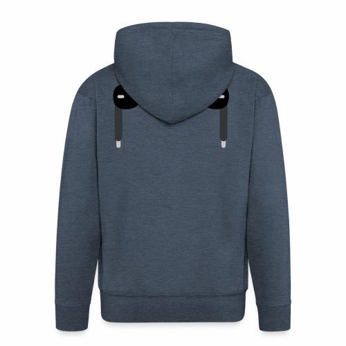 ListenToYourHeart - Rozpinana bluza męska z kapturem Premium