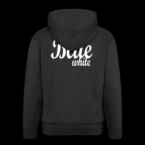 Blue White - Men's Premium Hooded Jacket