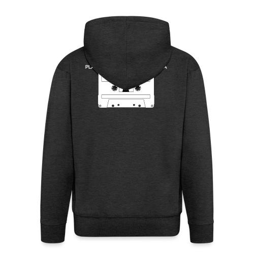 Playlists never like mixtape (dark background) - Men's Premium Hooded Jacket