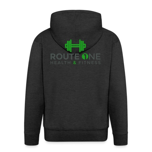 Route 1 Health and Fitness - Men's Premium Hooded Jacket