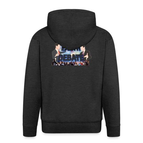 Flat Earth Debate Transparent - Men's Premium Hooded Jacket