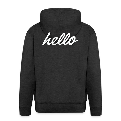 Hello World - Veste à capuche Premium Homme