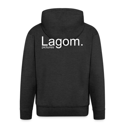 Lagom Pictures Logo Light - Men's Premium Hooded Jacket