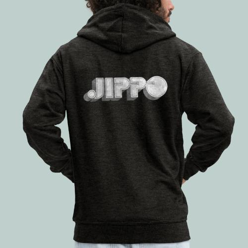 Retro JIPPO logo - Miesten premium vetoketjullinen huppari