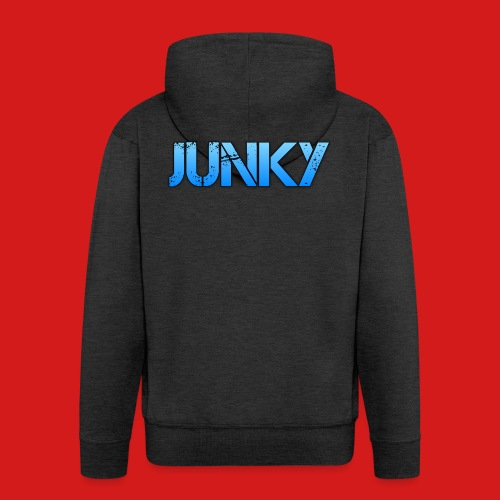 Junky Skate Blue - Men's Premium Hooded Jacket