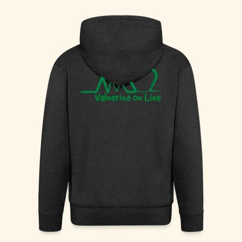 logo verde Associazione Valnerina On line - Felpa con zip Premium da uomo