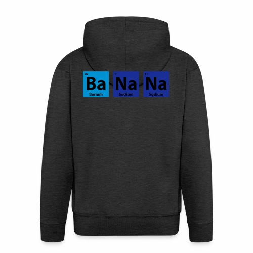 Periodic Table: BaNaNa - Men's Premium Hooded Jacket