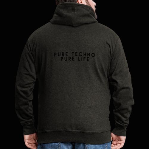 Pure Techno Pure Life Black - Männer Premium Kapuzenjacke