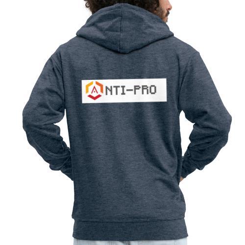 Maglietta Scritta Mario Anti-Pro Semplice - Felpa con zip Premium da uomo