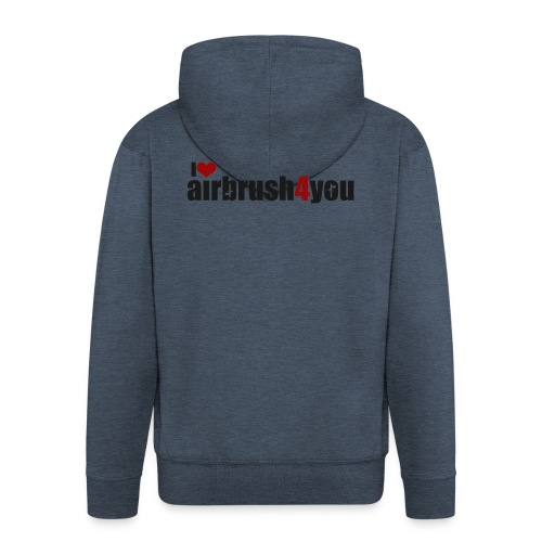 I Love airbrush4you - Männer Premium Kapuzenjacke
