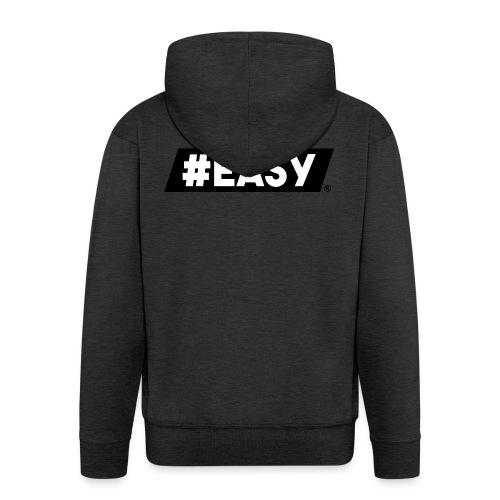 #EASY Classic Logo T-Shirt - Felpa con zip Premium da uomo