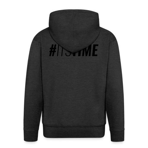 itstime - Felpa con zip Premium da uomo
