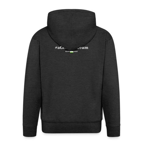 aGermanTeam_white - Männer Premium Kapuzenjacke