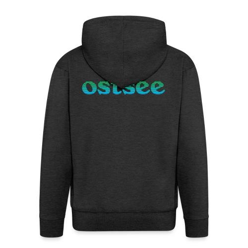 Ostsee Streifen - Männer Premium Kapuzenjacke