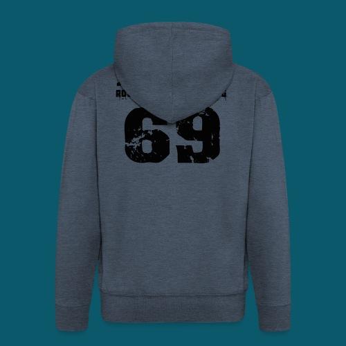 john 2469 numero trasp per spread nero PNG - Felpa con zip Premium da uomo