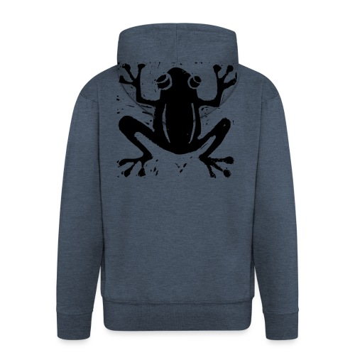 Crafty Wotnots Tree Frog - Men's Premium Hooded Jacket