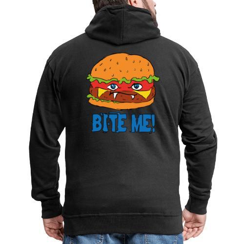 Bite me! - Felpa con zip Premium da uomo