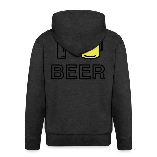 I Love Beer (2-farbig) - Männer Premium Kapuzenjacke