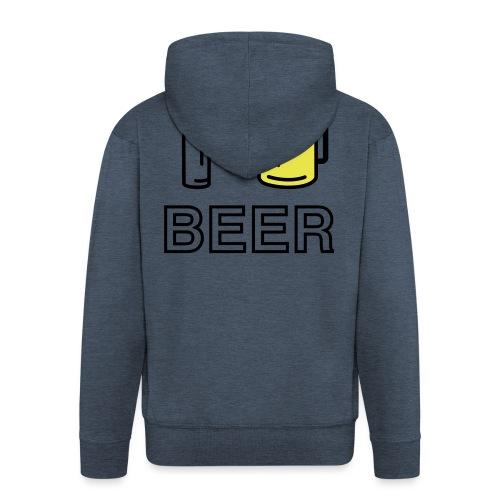 I Love Beer (3-farbig) - Männer Premium Kapuzenjacke