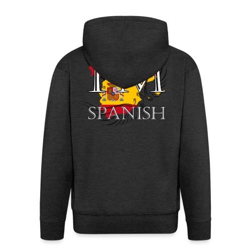 I am Spanish - Felpa con zip Premium da uomo