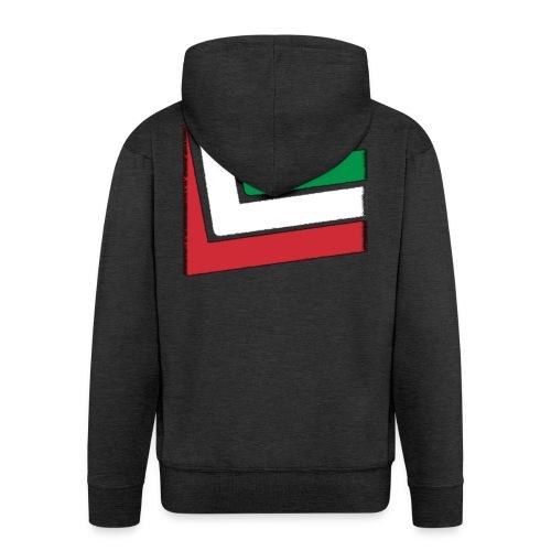 T-shirt Italia - Felpa con zip Premium da uomo