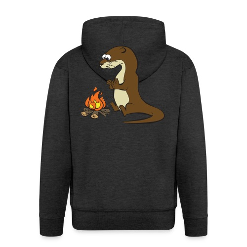 Song of the Paddle; Quentin campfire - Men's Premium Hooded Jacket