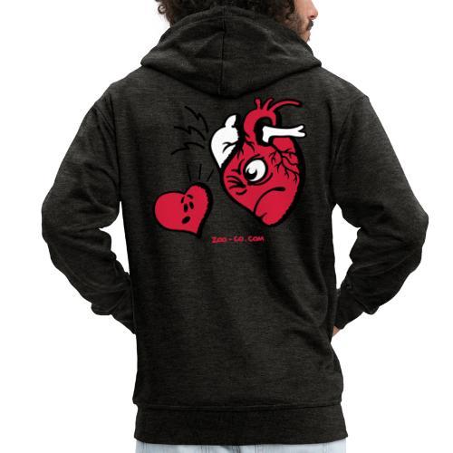 Heart vs Heart - Men's Premium Hooded Jacket