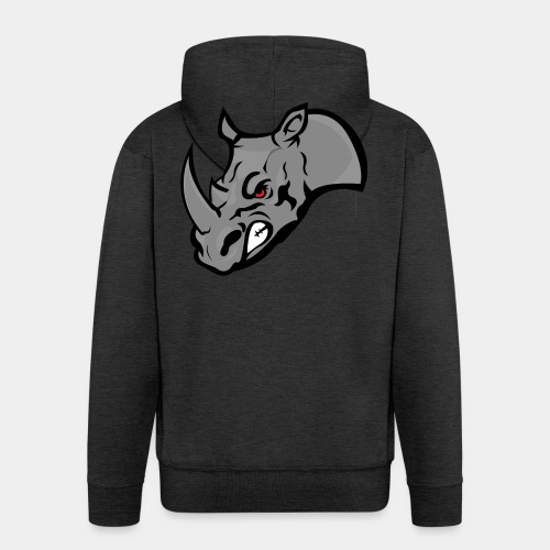 Rhino Mascot design - Men's Premium Hooded Jacket