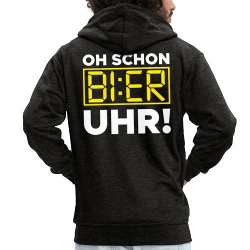 OH SCHON BI:ER UHR - Männer Premium Kapuzenjacke