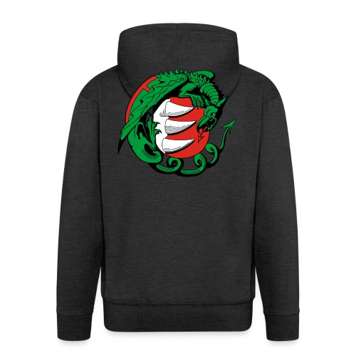 Hungary Dragon - Men's Premium Hooded Jacket