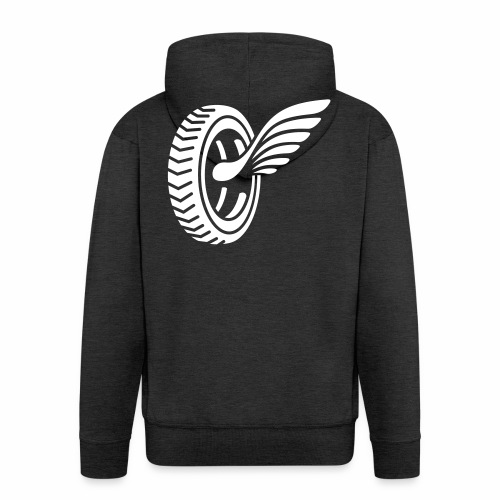 Car badge tires and wings - Men's Premium Hooded Jacket