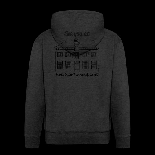 See you at Hotel de Tabaksplant BLACK - Men's Premium Hooded Jacket